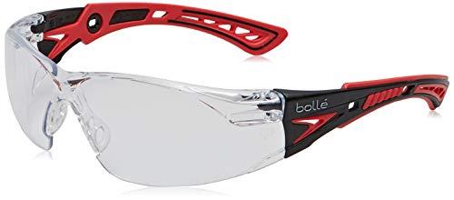 Bollé RUSHPPSI Bolle Schutzbrille Rush+, rot/schwarz, Einheitsgröße