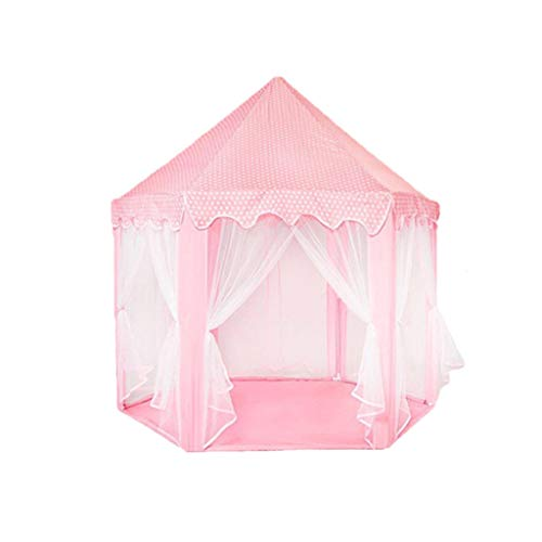 XUZg-wFence XZGang Breathable Tent, Anti-mosquito Mesh Tent Multifunctional Hexagon Tent Girl's Birthday Present Boy's Game Play Teepee Children's space (Color : Pink, Size : 140 * 135CM)