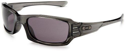 Oakley Men's OO9079 Fives Squared Rectangular Sunglasses, Grey Smoke/Warm Grey, 54 mm