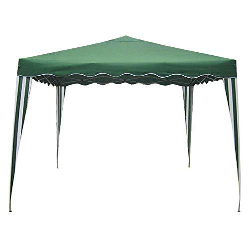 Cenador de acero pintado (2 x 3 m, color verde).