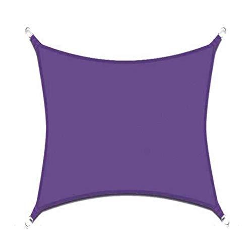Toldo de la Sombra de la Sombra del Sol Impermeable Toldo del Sol de la Sombra Patios al Aire Libre Patio Trasero del jardín 3x3q7w (Color : Purple, Size : 5X6M)