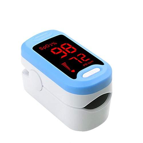 WQLESO Finger-Pulsoximeter für Erwachsene Kinder, Pulsoxymetrie-Monitor Atemfrequenz Pi Schlafüberwachung Herzfrequenzmesser,Blue