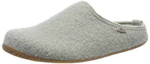 Living Kitzbühel Unisex-Erwachsene Pantoffel unifarben mit Fußbett Pantoffeln, Grün (Lily pad 0415), 37 EU