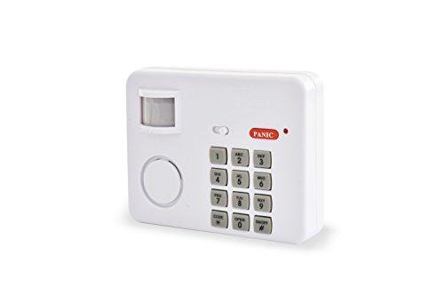 SCS Sentinel SAL0045 extérieur Kits de sécurité Alarme Maison sans Fil avec détecteur de Mouvement SafeAlarm-SAL0045, Blanc