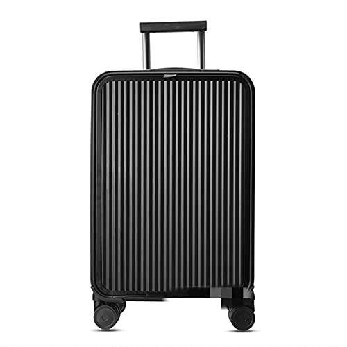 KGDUYH Maleta 100% de Aluminio Completo 16/20/24'Pulgada Maleta de Viaje Spinner Spinner Wheels Business Trolley Maleta Bag en Wheel para Viajes de Negocios (Color : Balck, Luggage Size : 20')