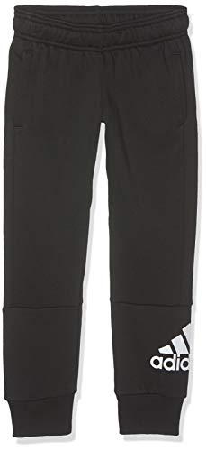 adidas Jungen YB MH BOS P Sport Trousers, Black/White, 5-6Y