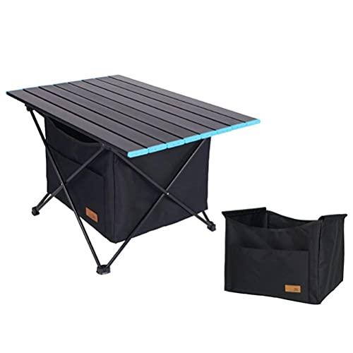 Mesa de Camping con Almacenamiento, Protable Plegable Picnic BBQ Mesa de Camping...