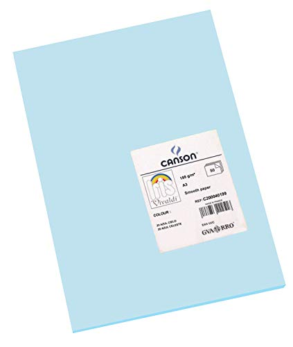 Cartulinas A3 Azul Marca Canson Escolar