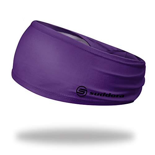 Suddora Solid Color Wide Headband/Sweatband -...