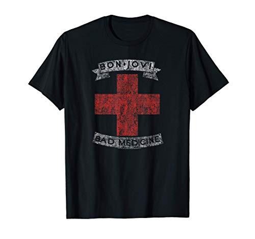 Bon Jovi Bad Medicine T-Shirt, 7 Colors, Adult, Youth Sizes