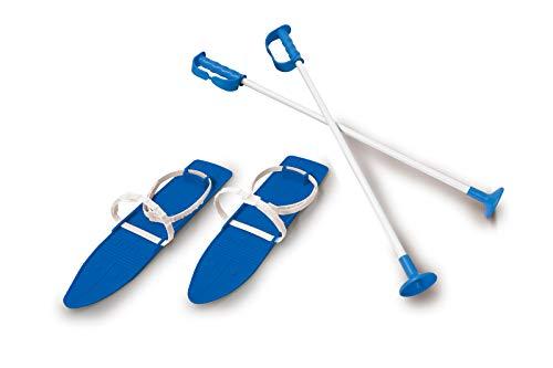 Jamara 460378 460378-Sneeuw Spelen Alpin 1e Stap 40cm Aerodynamische Constructie, Extra Veilig en Verstelbare Bevestigingslussen, Anti-Slip Oppervlak op De top, Ski Polen 40 cm, Blauw