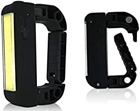 Brillar BR0043-BLK BR0043-BLK COB LED Rechargeable Caribiner Light w/Power Bank Hand Held Strong Magnets, Black