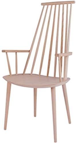 DAGCOT Bar Sillas Taburetes Desayuno butaca sillón Comedor (Color : Wood Color)