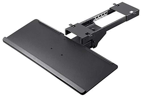 Monoprice Adjustable Ergonomic Keyboard Tray - Black with Full Size Platform - Workstream Collection