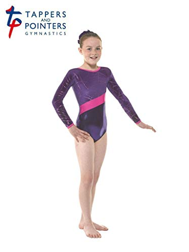 Tappers and Pointers Gymnastics Leotard PLUS Matching Hair Scrunchie Pink Gym 19