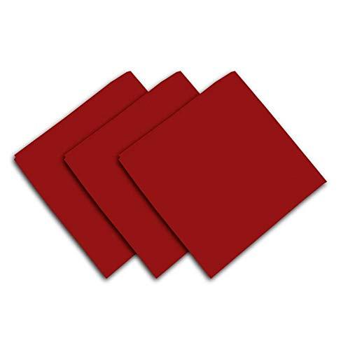Soleil d'Ocre Lot de 3 serviettes de table ALIX rouge
