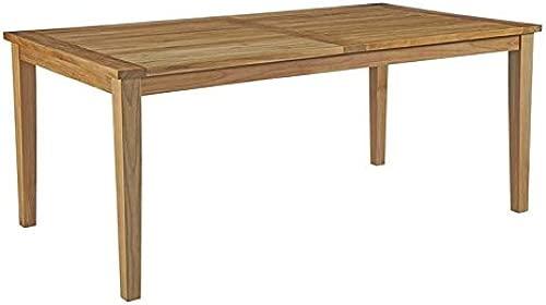 Modway EEI-2717-NAT Marina 72″ Premium Grade A Teak Wood Outdoor Patio Dining Table, Natural