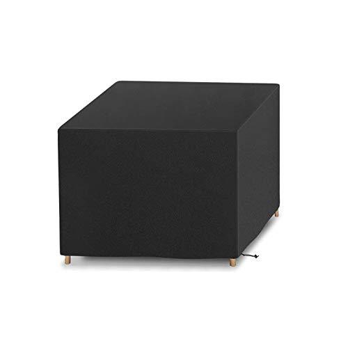 Guanici Funda Mesa Jardin Impermeable Cuadrada Funda Exterior Impermeable Sofa con Bolsa de Almacenamiento Cubierta de Muebles para Muebles de mesas de jardín Juegos de Asientos (123 x 123 x 7