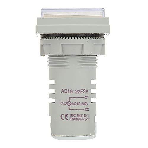 Indicador de voltaje, LED de tamaño pequeño Indicador de voltaje Cuadrado de...
