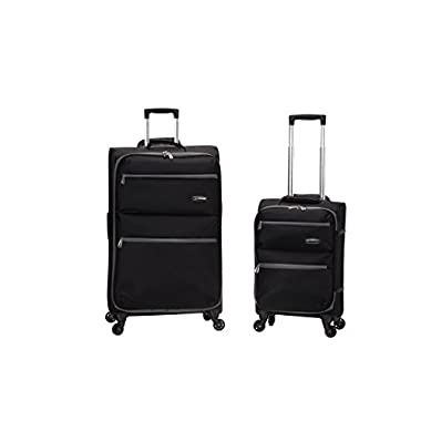 Rockland Gravity 2 Pc Light Weight Luggage Set, Black