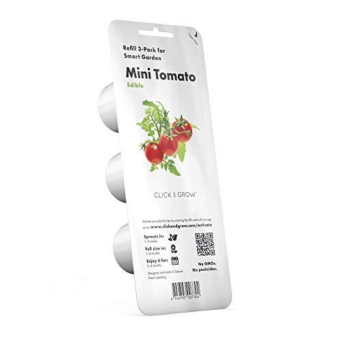 Emsa M52605 Click & Grow Substratkapsel Mini Tomaten, Nachfüllpackung für Smart Garden, 3er-Set