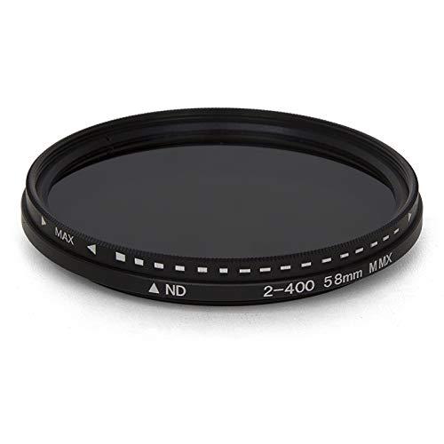 Buhui Fader Filtro ND Variabile Regolabile ND2 a ND400 Densità Neutra per Obiettivo Fotocamera