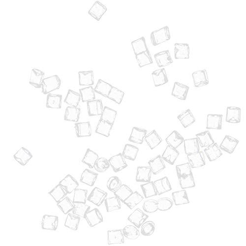 Toygogo 1/12 Kunststoff Miniatur Eiswürfel Puppenhaus Zubehör Pub Bier Eisblöcke