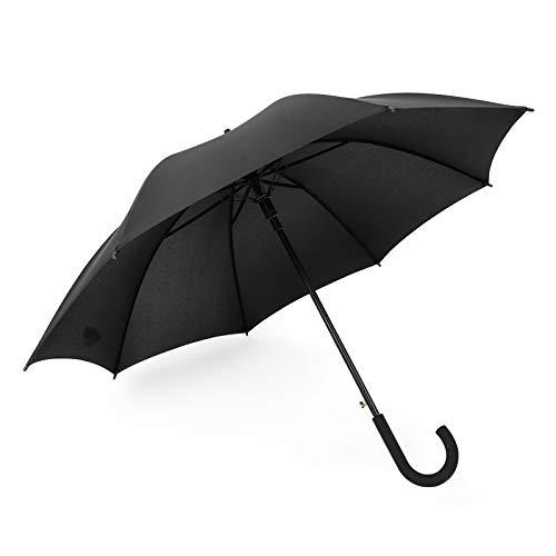 ZHAO Paraguas, Paraguas De Golf Grande, Paraguas De Mango Largo, Paraguas Recto, 105cm Negro