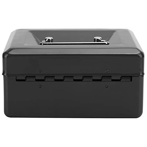 SZHWLKJ 6en Mini Caja De Caja Portátil Caja De Seguridad De Seguridad De Seguridad con Cerradura De Llave De Bloqueo para El Hogar Uso Negro
