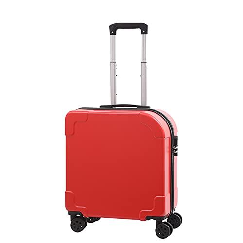 FGHHJ Equipaje, Maleta pequeña, Equipaje de Viaje, Carretilla Dura Shell Lightweight, 20 Pulgadas,Rojo