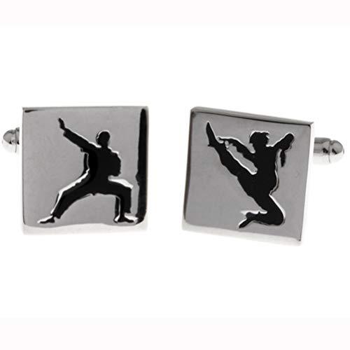 Gemelos Para Hombres, Elemento Chino Artes Marciales Kung Fu Shaolin Wudang, Hebilla De Manguito De Cobre Carácter Chispeante Regalo Camiseta Elegante Accesorio Para Contador Jefe Negocio Prom De Bo