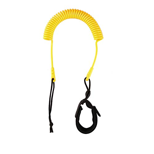 Heytur Coiled SUP Leash 10' Surfboard Leash Sup Leg Rope Strap Stand Up Paddleboard Leash (Yellow)…