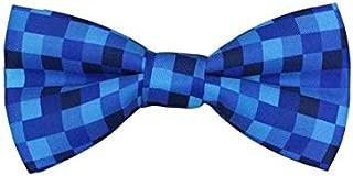 Mule Ties Blue Pixelated Men's Bow Tie