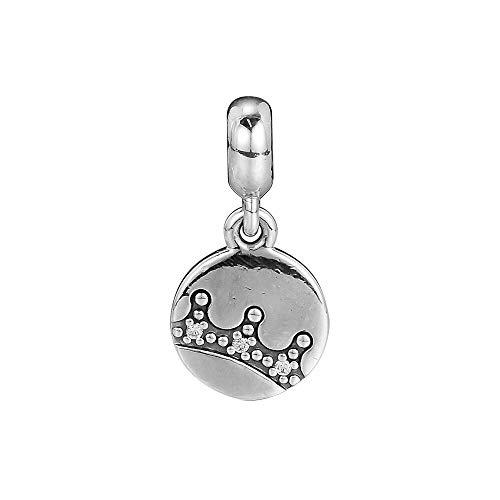 LIIHVYI Pandora Charms para Mujeres Cuentas Plata De Ley 925 Joyas Colgantes De Corona Deslumbrante Compatible con Pulseras Europeos Collars
