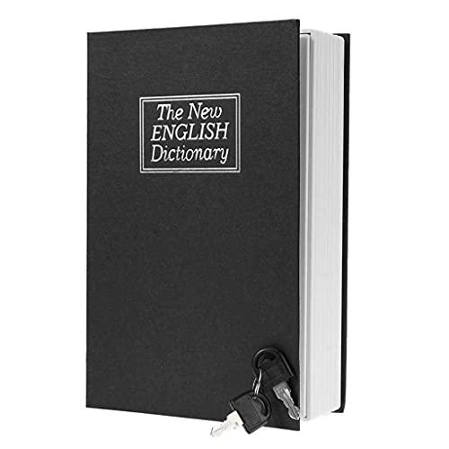 GPWDSN Caja de Ahorro de Dinero con Forma de Diccionario de inglés Creativo, Hucha de Monedas de Libro Seguro con Llaves, Cajas de Ahorro de Monedas en Efectivo