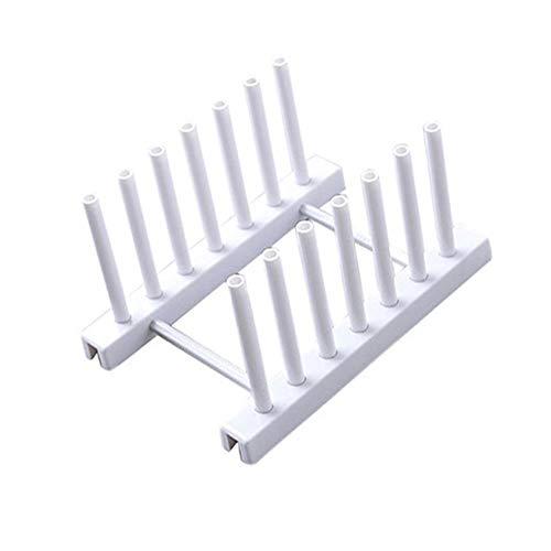 Fliyeong - Soporte de plástico para platos de cocina, color blanco