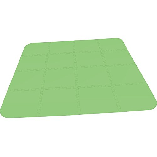 Kiids Bodenmatte Puzzlematte UNO Plus (16 Teile) grün - 16 mm - 0+