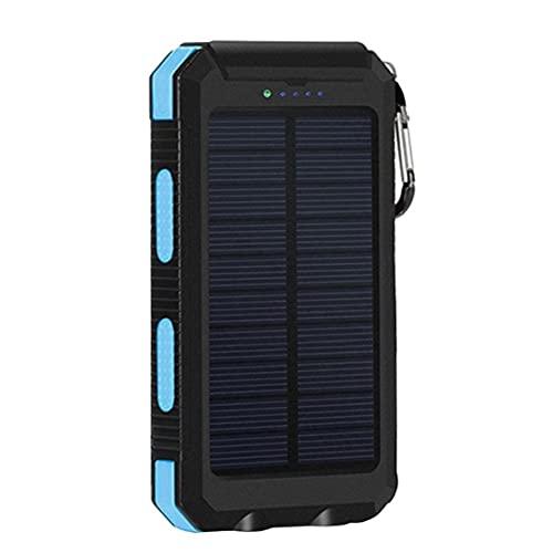 Tuimiyisou Cargador Solar Portátil Camping Banco De Energía Solar Impermeable Aire Libre 20000mah Móvil De La Energía del Teléfono Móvil del Compás De Energía Solar