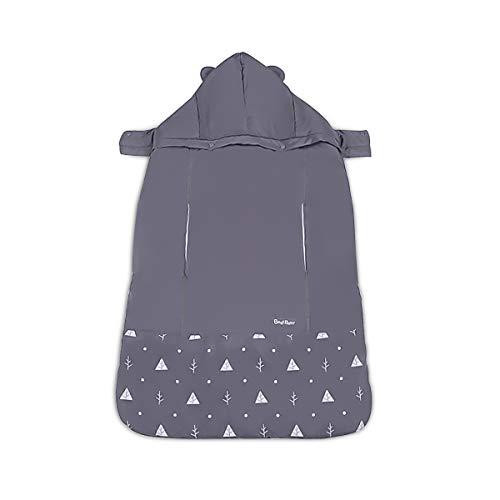 SONARIN Universal All Seasons Cobertor para portabebés,Capa para el invierno,Prueba de viento,Impermeable,Sombrero Desmontable(Gris)