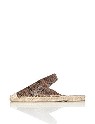 find. Slippers Damen Espadrille-Design, Mehrfarbig (Snake), 38 EU