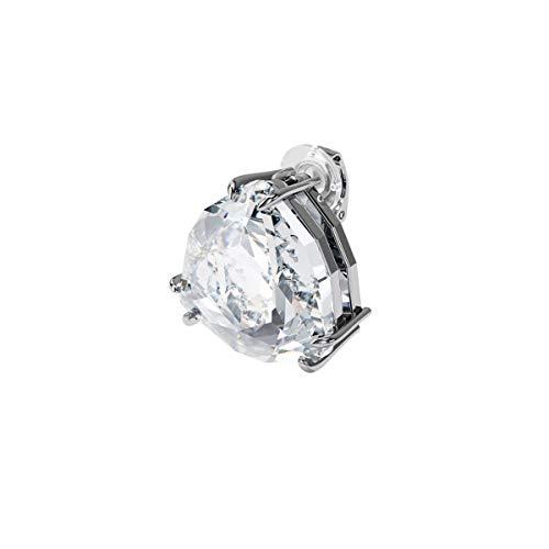 Swarovski Pendiente de clip Mesmera, Individual, Cristal de talla triangular, Blanco, Baño de rodio