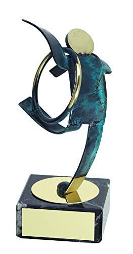 Trophy Monster Premio de Gimnasia rítmica Hecho a Mano de Metal | para presentaciones y premios | Grabado Gratis | (2 tamaños), Multicolor, 190 mm