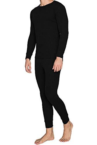 best basics Herren Winter Thermohemd warmes Thermounterwäsche Oberteil Funktionsshirt Skiunterwäsche (Schwarz, L)