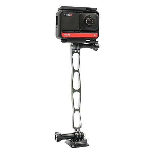 SUREWO Aluminum DIY Universal Extension Bracket Mount Compatible with GoPro Hero 8/7/(2018)/6/5 Black,APEMAN/AKASO/TENKER/Campark/DJI Osmo Action Cameras and More (Titanium Silver)