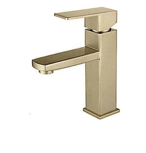 Leichter Edelstahl-Spülbecken, Brushed Gold Color Badezimmer Wasserfall-Mischer Wand Tape Vanity Bad Faucet