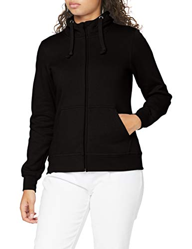 Clique Sweat-shirt pour femme avec fermeture éclair séparable et capuche. Tissu doux stabilisé, adapté aux lavages intensifs - Noir - XXL