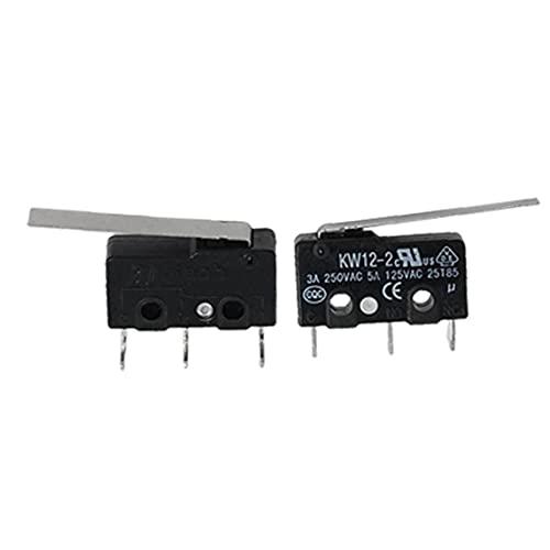 nJiaMe 2 Interruptor de límite PC Micro Largo Brazo de Palanca subminiatura SPDT de acción rápida