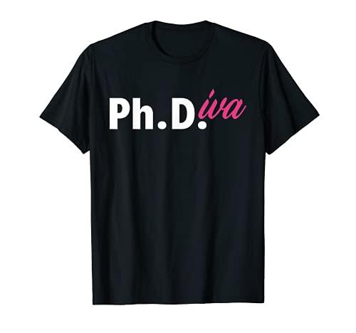 Ph Diva Mujeres Disertación Doctorado Graduación Doctorado Camiseta
