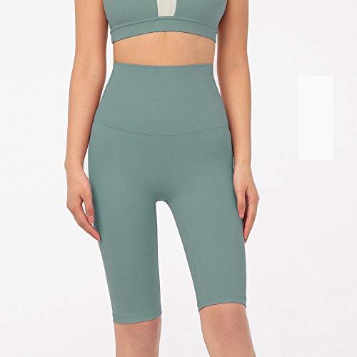 bayrick Nuevo en 2050,Pantalones de Yoga recortados de una Sola Pieza Desnuda Mujeres sin Fisuras de Yoga Pantalones Cortos-7_L