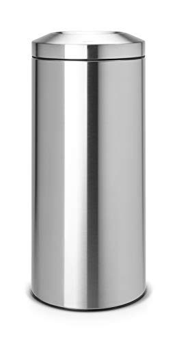 Brabantia Papelera Ignífuga 30 l, Metal, Acero Mate